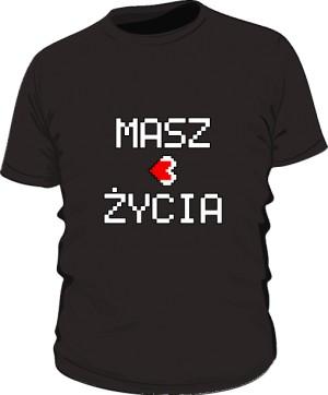 Koszulka z napisem czarna