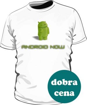 Koszulka biała logo Android Now