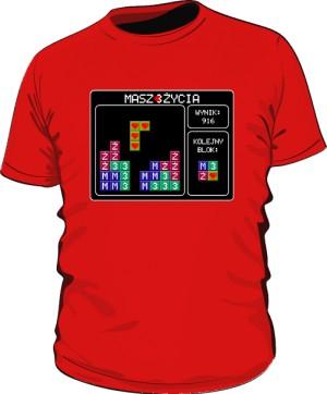 Koszulka Tetris czerwona