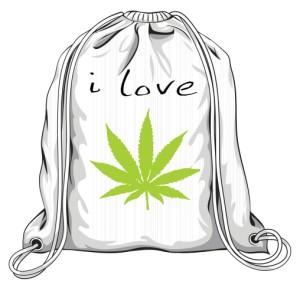 Worek I LOVE WEED