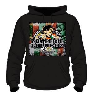 Bluza z kapturem czarna z logo sklepu