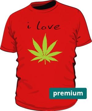 koszulka I LOVE WEED