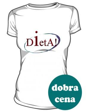 Dieta koszulka damska biała