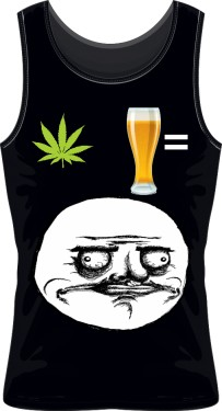 Bezrękawnik weed and beer