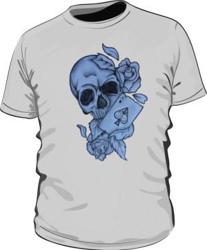 Skull And As Pik Grey M