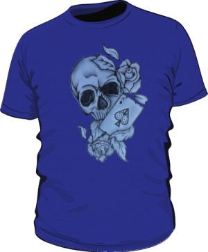 Skull And As Pik Blue M