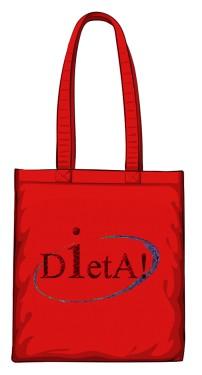 Dieta torba bawełniana czerwony