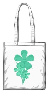 Groenbsblomme torba bawełniana biały