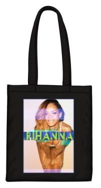Torba z nadrukiem Rihanna czarna