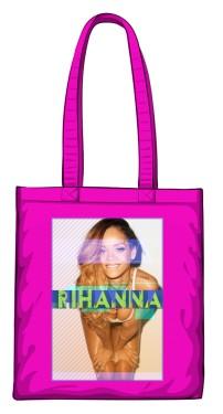 Torba z nadrukiem Rihanna różowa