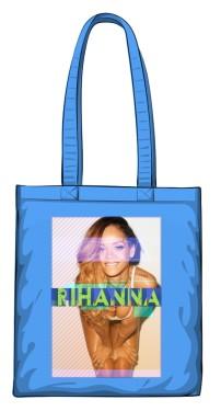 Torba z nadrukiem Rihanna niebieska