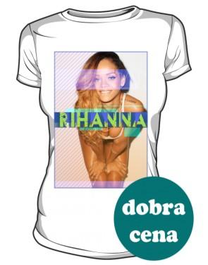 Koszulka z nadrukiem Rihanna biała