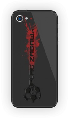 Czarne etui do iPhone5 5s z logo
