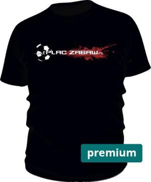 Czarna koszulka męska premium z logo