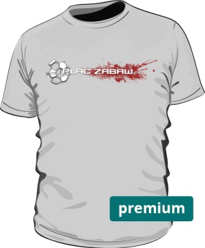Szara koszulka męska premium z logo