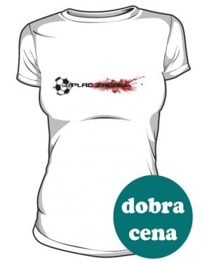 Biała koszulka damska z logo