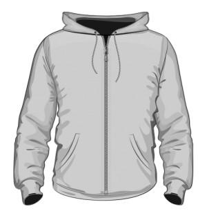 Rozpinana bluza z kapturem z logo tył