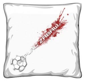 Poduszka 40 cm z białym logo