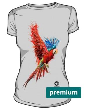 Czerwona Papuga koszulka premium