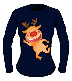 bluzka granatowa nadruk świąteczna