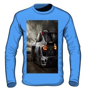 meska koszulka z nadrukiem auta