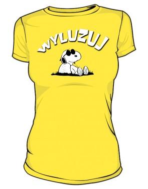 Koszulka Wyluzuj D Żół 002