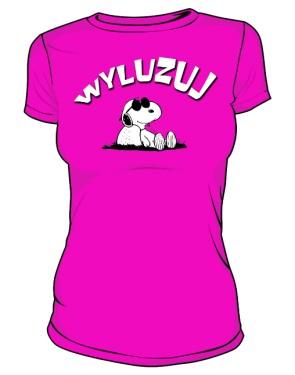 Koszulka Wyluzuj D Róż 006