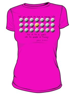Koszulka Happy D Róż 004