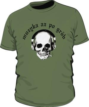 Koszulka Czacha Czarny Napis M Khaki 003