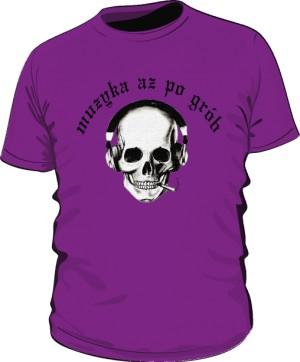 Koszulka Czacha Czarny Napis M F 004