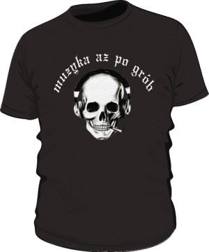Koszulka Czacha Biały Napis M Cza 001