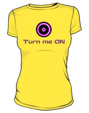 Koszulka Turn Me On D Żół 001