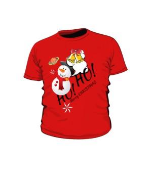 HO HO Snowman Smoke koszulka