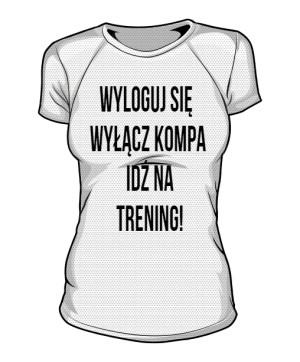Trening Damska Koszulka Sportowa