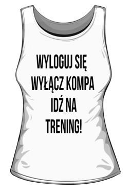 Trening Damski TOP Sportowa Biała