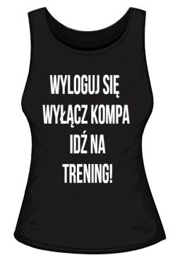 Trening Damski TOP Sportowa Czarna