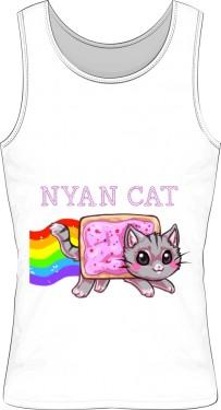 Koszuleczka na naramkach z Nyan Cat