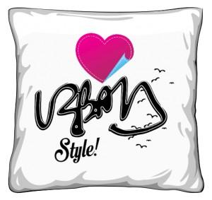 Urban style poduszka z sercem