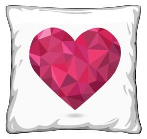 Poduszka z diamentowym sercem