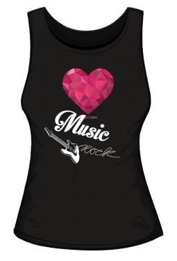 Top damski rockowe serce black