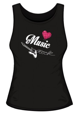 Top damski rockowe serce black 2