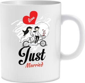 Just Married kubek na prezent