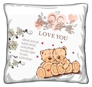 Poduszka Miłość Love Misie
