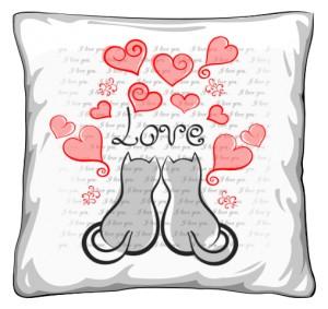 Poduszka Zakochane 2 Koty