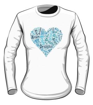 Błękitne  Serce Long sleeve damski