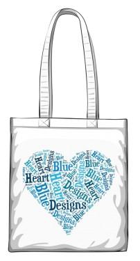 Błękitne  Serce Torba zakupowa