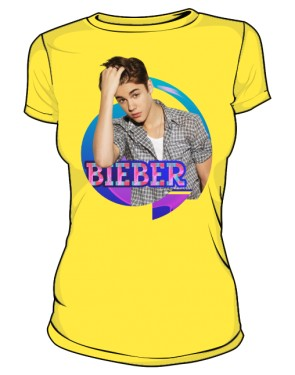 Koszulka Justin Bieber żółta