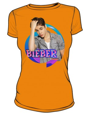 Koszulka Justin Bieber pomarańczowa