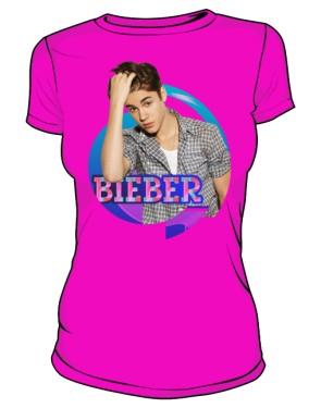 Koszulka Justin Bieber różowa