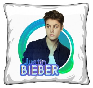 Poduszka z nadrukiem Justin Bieber